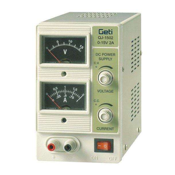 Laboratorie power supply Geti QJ1502A 0-15V/ 0-2A
