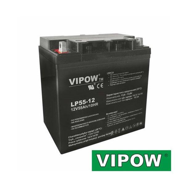 Lead-acid battery 12V 55Ah VIPOW