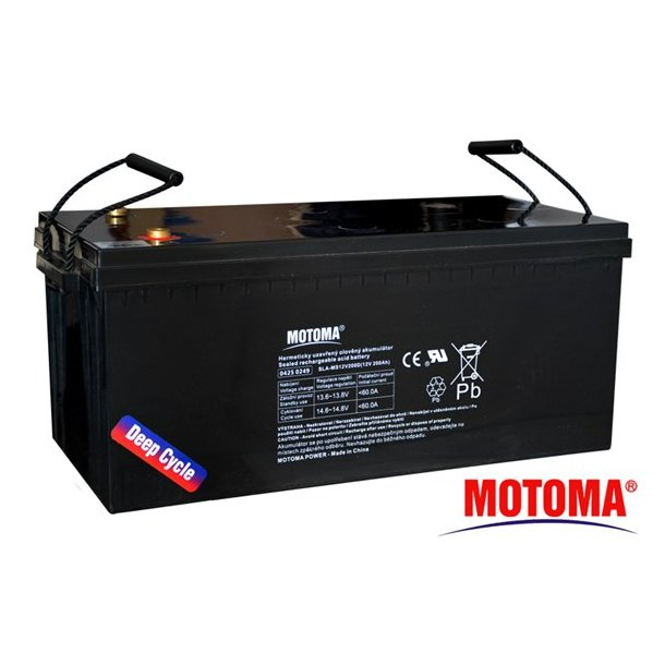 Sealed lead acid battery 12V 200Ah MOTOMA