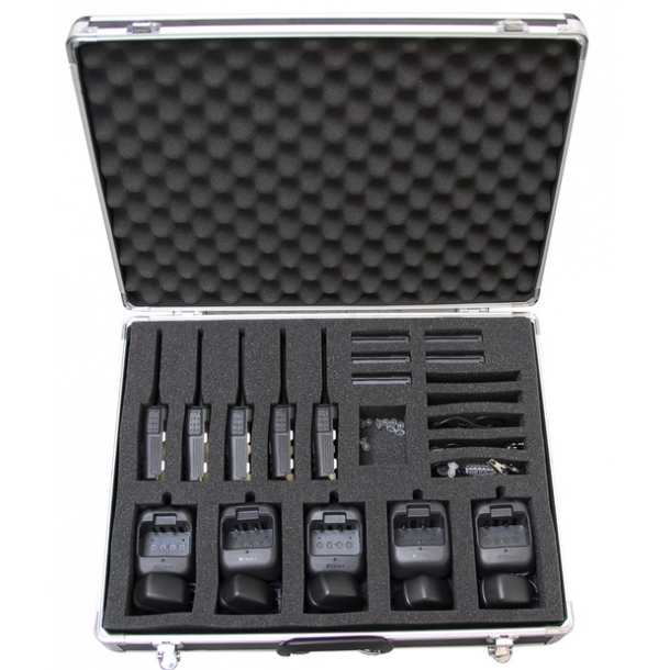 6 stk security UHF radioer, normal pakke