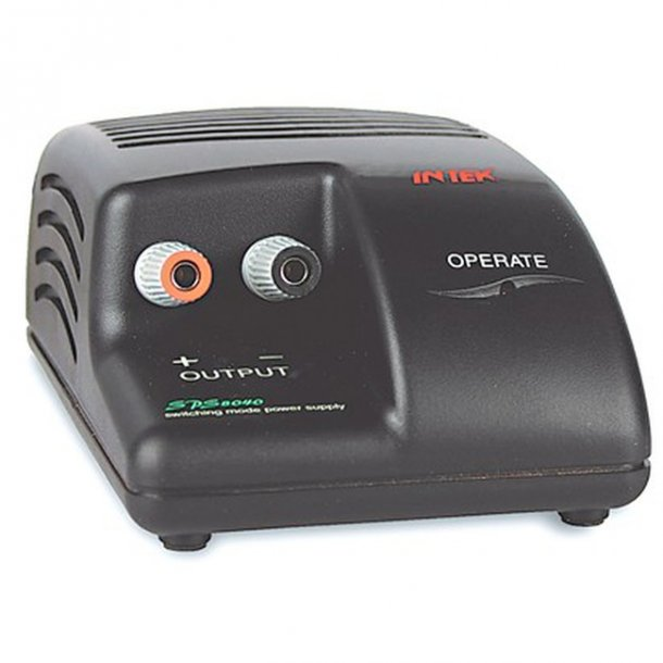 INTEK SPS 8040 strømforsyning 13.8VDC, 3A