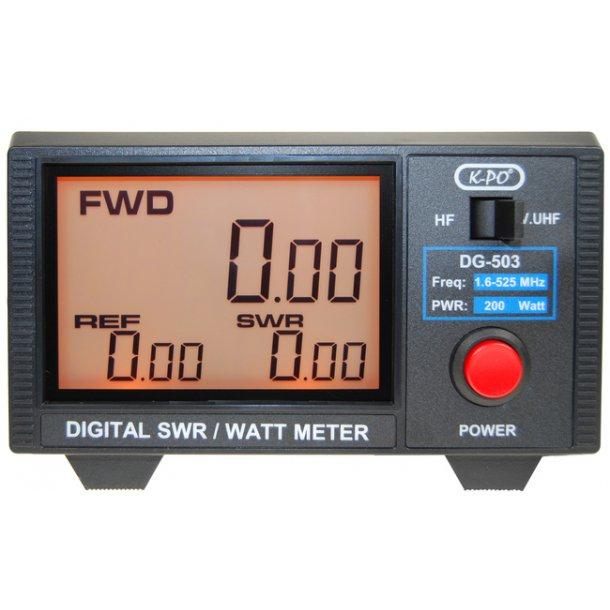 KPO DG-503 SWR- & Power-Meter med digital avlesning