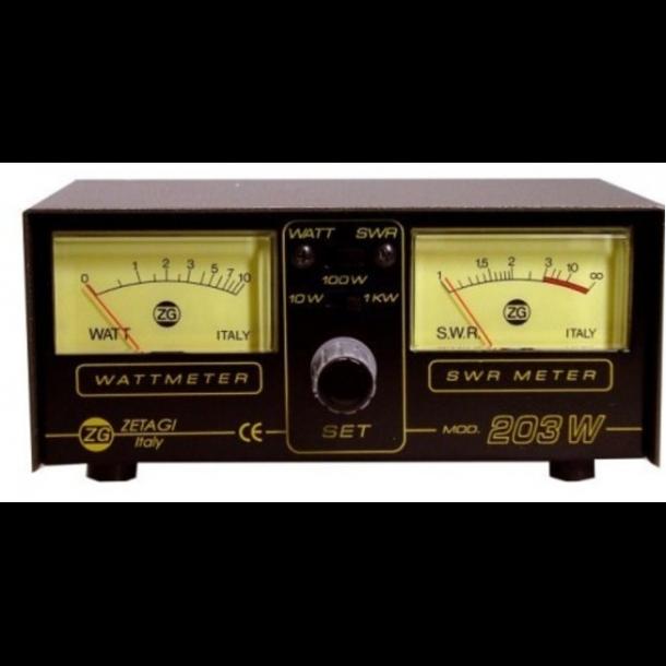 ZETAGI 203 SWR-PWR Meter 26-30MHz, max 1000watt