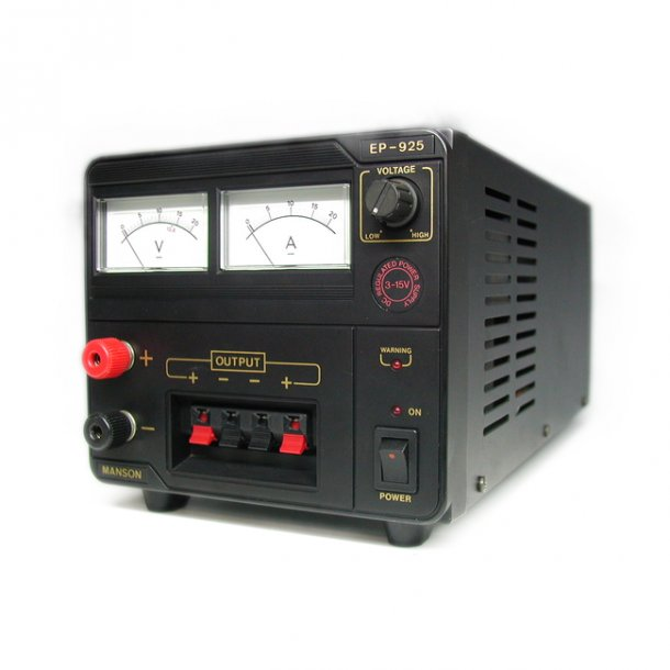 MANSON EP-925 lINÆR/TRAFOSTRØMFORSYNING 30 Ampere