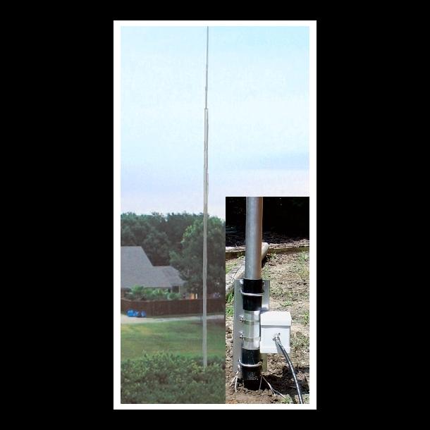 MFJ-2990 160-6M VERT.ANT., 43FT, 1500W,W/BALUN/MOUNT