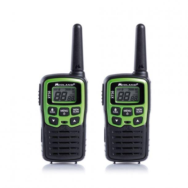 Midland XT 30 lisensfri radio selges i par 6km rekkevidde