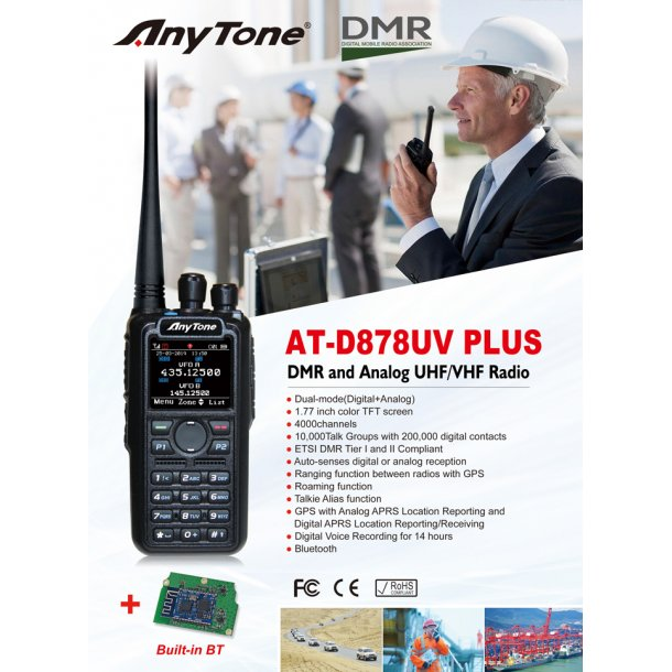 AT-D878UV Plus GPS og programkit