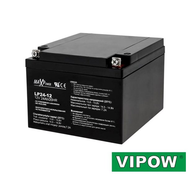 Lead-acid battery 12V/24Ah VIPOW