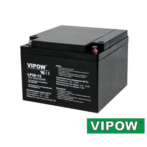 Lead-acid battery VIPOW 12V 26Ah VIPOW