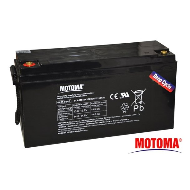 Sealed lead acid battery 12V 150Ah MOTOMA