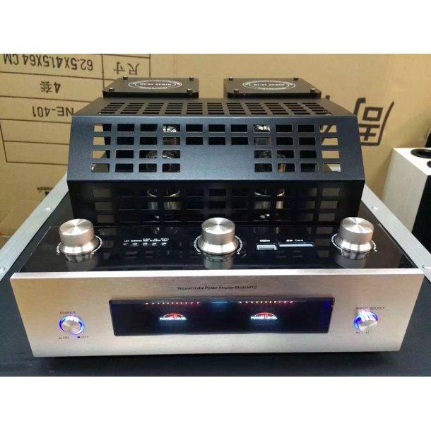 M12 HI-FI Bluetooth Vacuum Tube Stereo Amplifier support USB audio power amplifier BASS hifi output