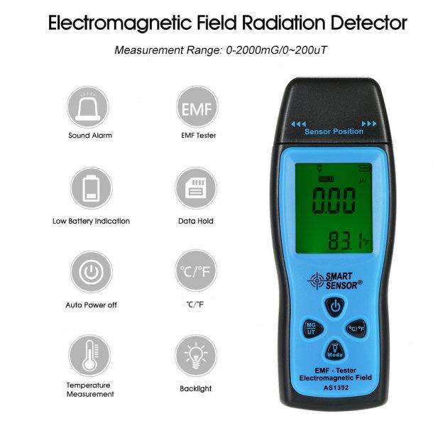 Handheld Digital LCD radiation dosimeter Mini EMF Tester Ele