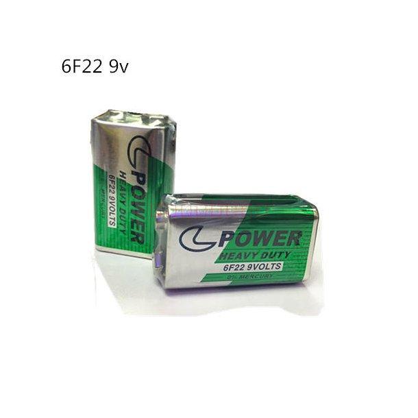 9volt batteri POWER kartong av 10stk batterier