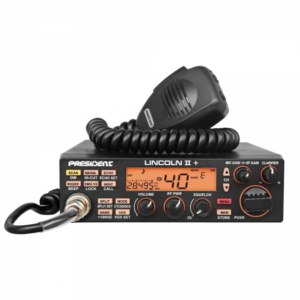 President Lincoln II+ 10 Meter Amateur Ham Mobile Radio AM/FM/SSB