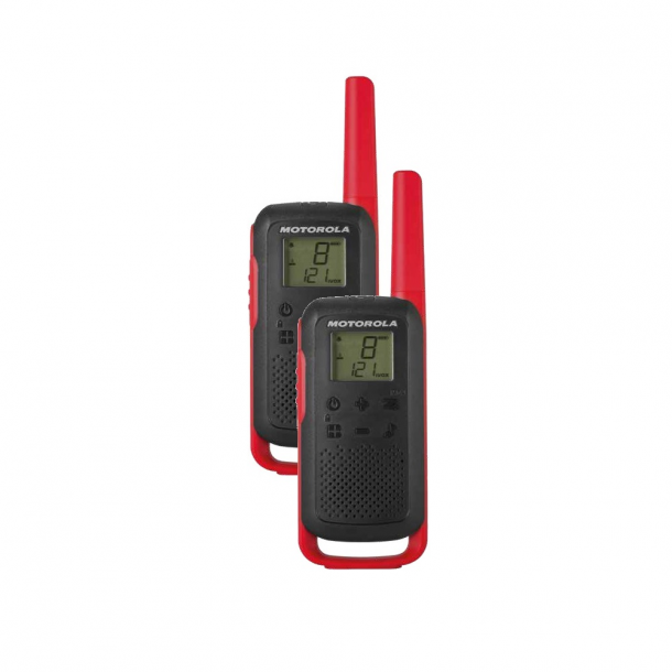 Motorola Talkabout T62 twin-pack + charger red