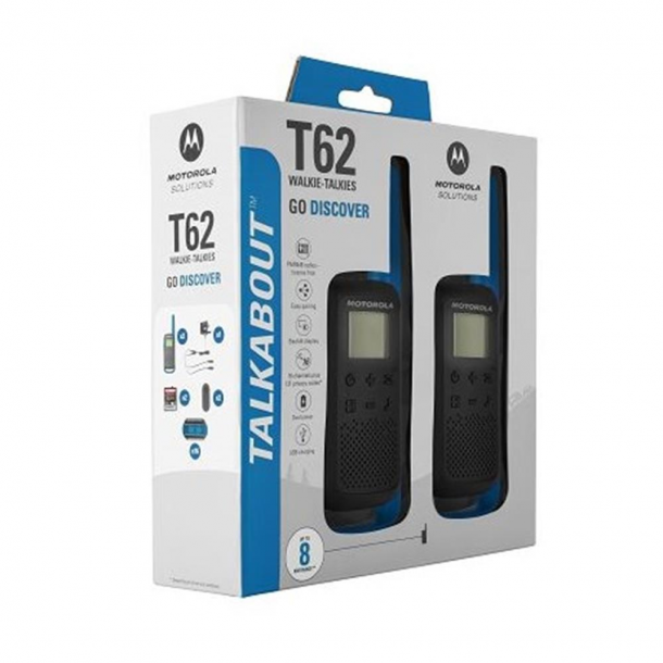 Motorola Talkabout T62 twin-pack + charger blå