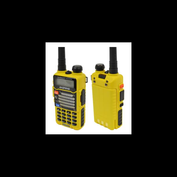 Baofeng Two-Way Radio UV-5RE VHF / UHF yellow color