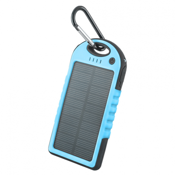 Setty solar power bank 5000 mAh blue