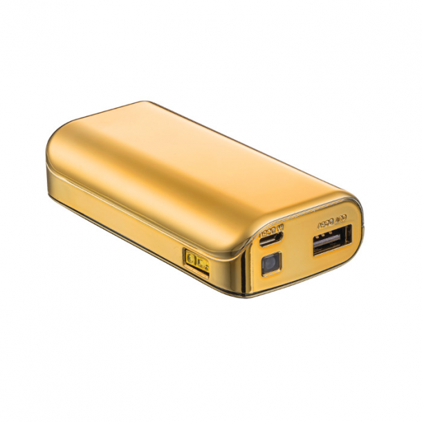 PowerBank 4400 Portable Charger - gold