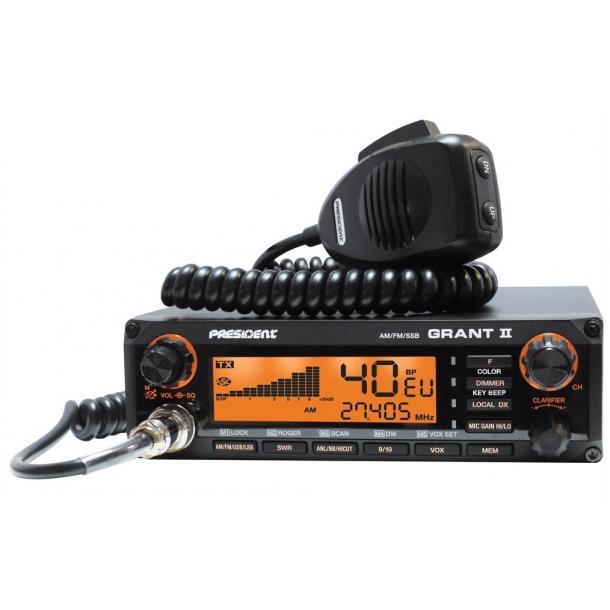 PRESIDENT GRANT II ASC CB MOBILE RADIO AM/FM/SSB (PREMIUM) BASEPAKKE