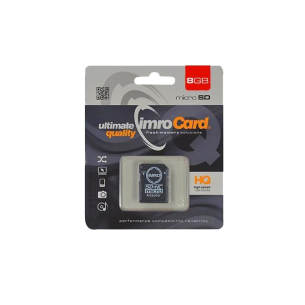 IMRO MicroSDHC 8GB cl.10 with adapter