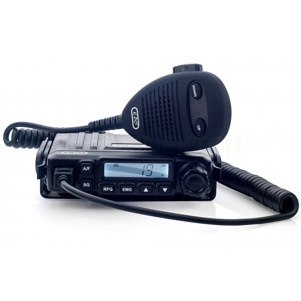 K-PO K-100 V3  mobilpakke med mobilantenne + CIGAR PLUG Mini Multi Channel CB Transceiver