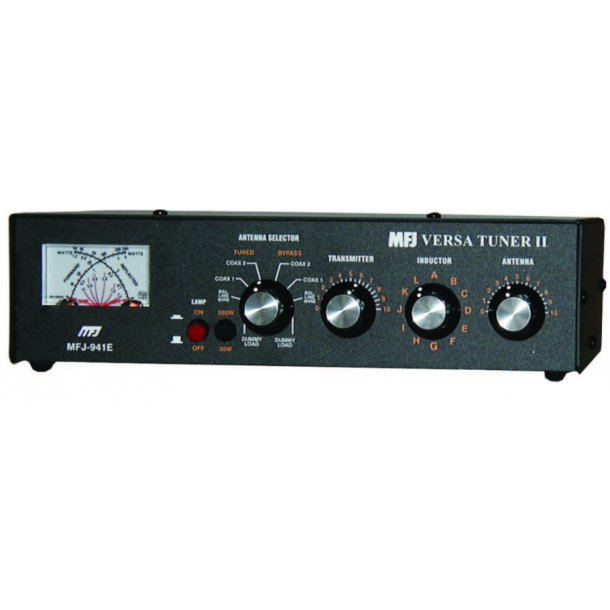 MFJ-941E TUNER, HF, 300 WATTS, WITH MINI CROSS METER