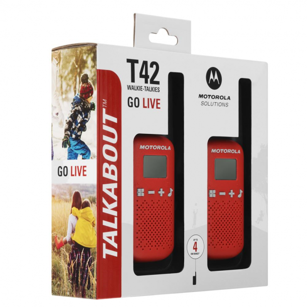 Motorola Talkabout T42 twin-pack rød