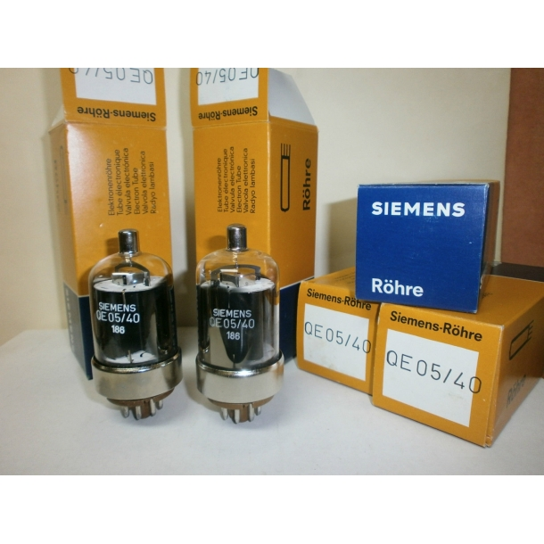 Pair of QE05/40 ( 6146 6146B ) audio / RF power output tube