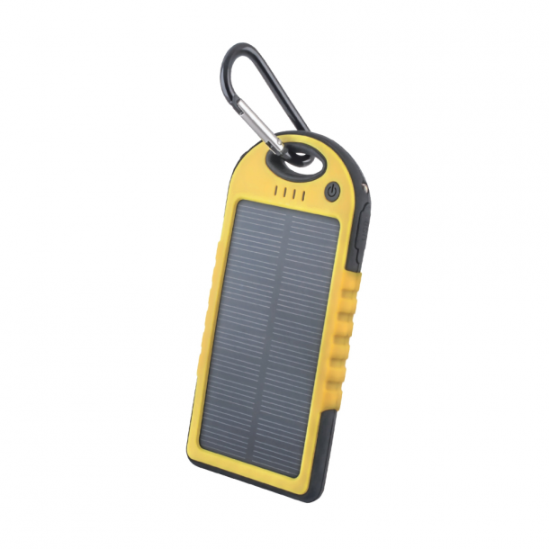 Setty solar power bank 5000 mAh yellow